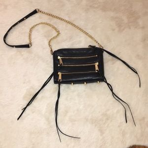 Rebecca Minkoff Black Mini 5 Zip Crossbody